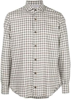 Eleventy gingham print shirt