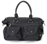 OiOi Black Wash Carry All Diaper Bag with Patent Trim - Style 6602 by