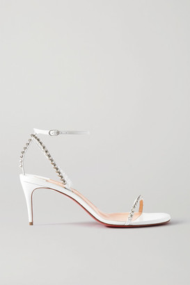 Christian Louboutin So Me 70 Studded Leather Sandals - White