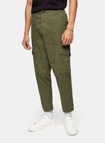 TopmanTopman SELECTED HOMME Green Danny Cargo Trousers