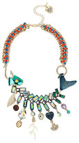 Betsey Johnson Glitter Reef Fish Frontal Necklace