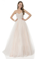 Terani Couture 1611P1255A Scalloped Pearl A-Line Gown
