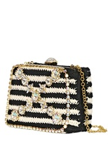 Moschino Cheap & Chic Bijoux Crochet Cotton Rigid Clutch