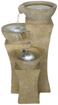 TRADEMARK HOME Navarro Cascading Bowls LED Outdoor Fountain