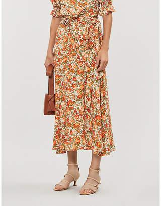 Faithfull The Brand Asiya floral-print rayon midi skirt