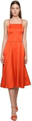 Ralph Lauren Collection Glossy Duchesse Chain Strap Midi Dress