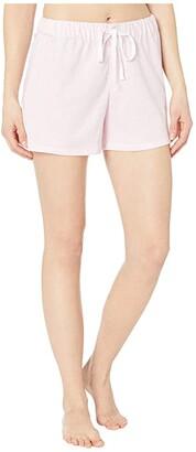 Lauren Ralph Lauren Cotton Polyester Jersey Separate Boxer Shorts (Pink Stripe) Women's Pajama
