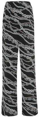 Balenciaga Printed wide-leg silk pants