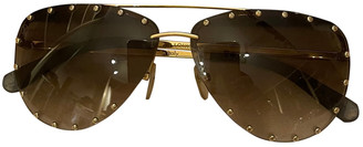 Louis Vuitton Drive Brown Metal Sunglasses