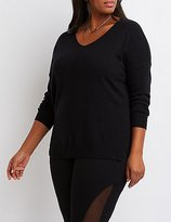 Charlotte Russe Plus Size Drop Shoulder Sweater