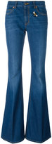 Gucci embroidered flared denim jeans - women - Cotton - 26