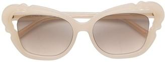 Linda Farrow Oversized Tinted Sunglasses