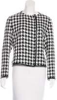 Akris Faux Leather-Trimmed Knit Jacket