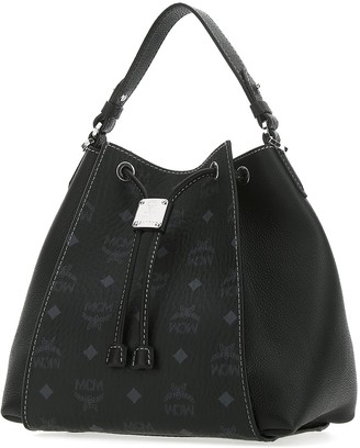 MCM Luisa Visetos Drawstring Bucket Bag