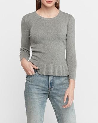 Express Crew Neck Peplum Sweater