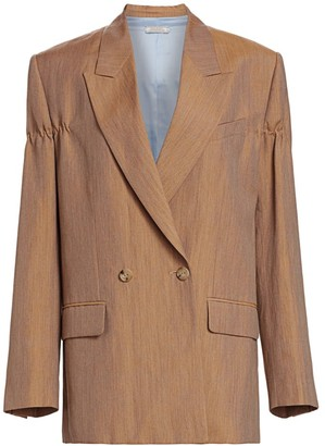 Nina Ricci Linen & Wool Double Breasted Jacket