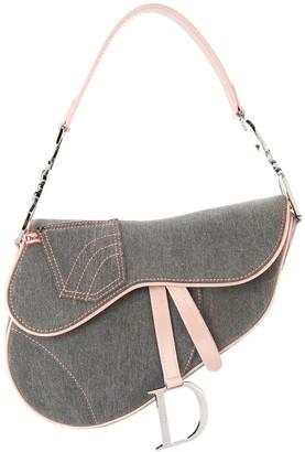 Christian Dior Pre Owned denim saddle handbag