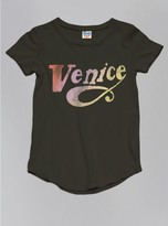 Junk Food Clothing Toddler Girls Venice Tee-black Wash-2t