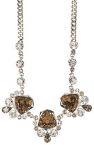 Givenchy Crystal Drama Frontal Necklace
