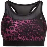 Superdry Sports bra leopard burgundy