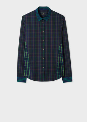 Paul Smith Women's Slim-Fit Tartan Panelled Shirt