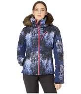 Roxy Snowstorm Plus Snow Jacket (Medieval Blue Sparkles) Women's Coat