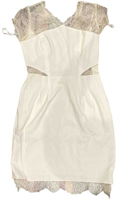 BCBGMAXAZRIA Ecru Lace Dress for Women