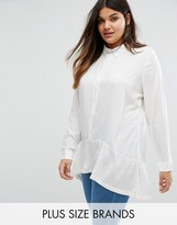 Junarose Plus Shirt With Frill Hem