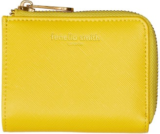 Fenella Smith Yellow Vegan Leather Small Purse