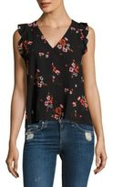 Rebecca Taylor Marguerite Ruffled Floral-Print Top