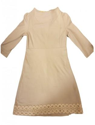 ASOS Beige Cotton - elasthane Dress for Women
