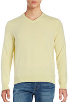 Black Brown 1826 Cashmere V-Neck Sweater