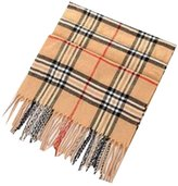 Driew Winter Warm Thick Tartan Long Scarf Soft Cashmere Tassels Plaid Checked Wrap Shawls for Women and Mens