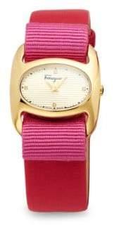 Salvatore Ferragamo Stainless Steel & Patent Leather-Strap Watch
