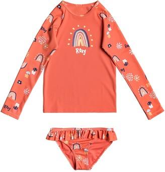 Roxy Kids' Rainbow Two-Piece Rashguard Swimsuit