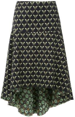 Isolda Acacia midi skirt
