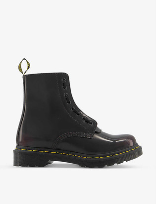 Dr. Martens 1460 Pascal front-zip leather ankle boots