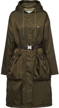 Prada Gabardine Hooded Trench Coat