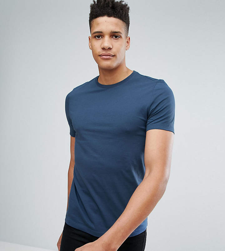 Asos DESIGN Tall t-shirt with crew neck in navy