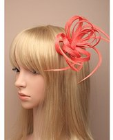 Inca Coral Fascinator on Headband/ Clip-in for Weddings, Races and Occasions-5328