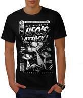 UFO Alien Attack Men XXXL T-shirt | Wellcoda