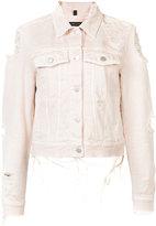 J Brand distressed denim jacket - women - Cotton - XS