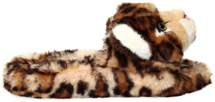 Dolce & Gabbana 20mm Leopard Plush Slide Sandals