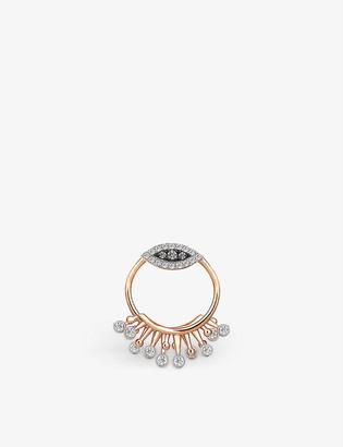 THE ALKEMISTRY Kismet by Milka 14ct rose-gold and diamond stud earring