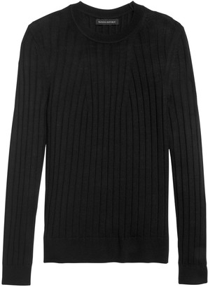 Banana Republic Petite Washable Merino Ribbed Sweater