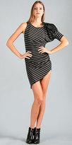 VOOM by Joy Han Assymetric Striped Dresses from