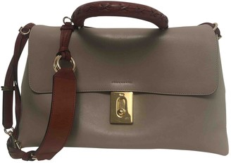 Chloé Fedora Grey Leather Handbags