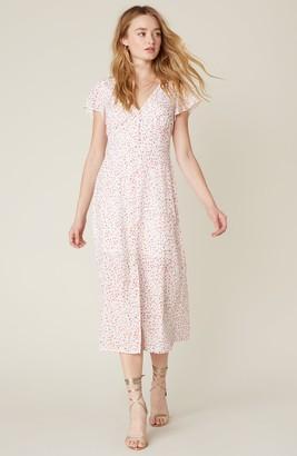 BB Dakota Heavy Petals Midi Dress