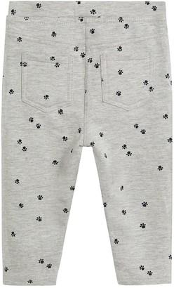 MANGO Baby Girls Print Leggings - Grey Marl