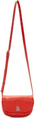 Balenciaga Red XS Soft Round Crossbody Bag